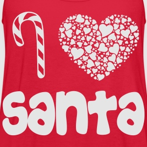 i_heart_santa_wht Women's T-Shirts - Women's Flowy Tank Top by Bella