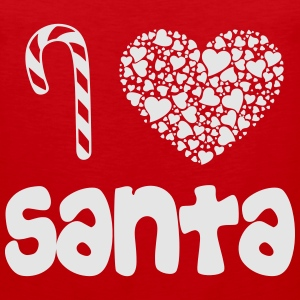 i_heart_santa_wht Women's T-Shirts - Men's Premium Tank