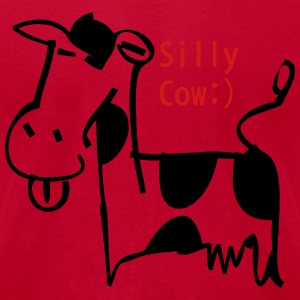 silly_cow2 Sweatshirts - Men's T-Shirt by American Apparel