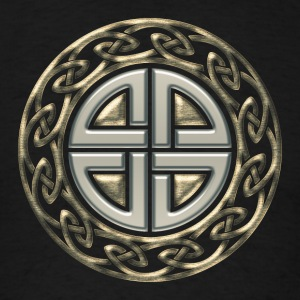 Celtic shield knot, Protection Amulet, Germanic,  Hoodies - Men's T-Shirt