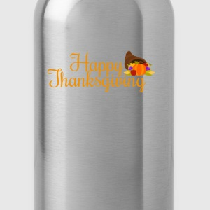 happy thanksgiving turkey day  T-Shirts - Water Bottle