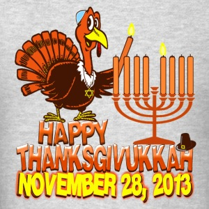 Happy Thanksgivukkah Hanukkah 2013 Womens Hooded S - Men's T-Shirt