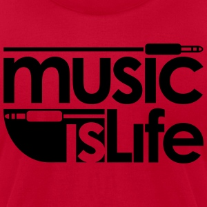 Music is Life Hoodies - Men's T-Shirt by American Apparel