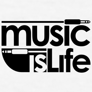 Music is Life Bottles & Mugs - Men's T-Shirt