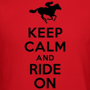 Keep calm and ride on Horse Women's T-Shirts - Crewneck Sweatshirt