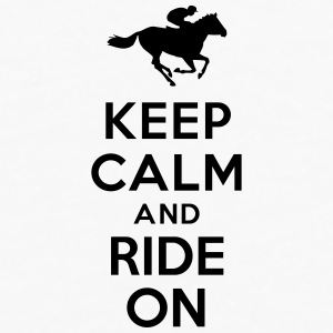 Keep calm and ride on Horse Bottles & Mugs - Men's Premium Long Sleeve T-Shirt
