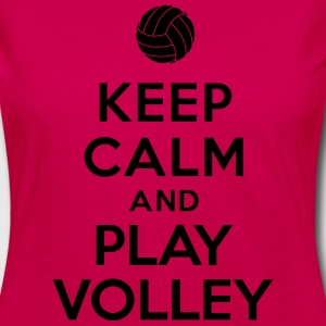 Keep calm and play Volley Hoodies - Women's Premium Long Sleeve T-Shirt