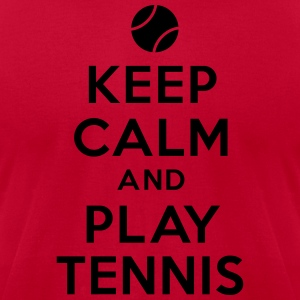 Keep calm and play tennis Hoodies - Men's T-Shirt by American Apparel