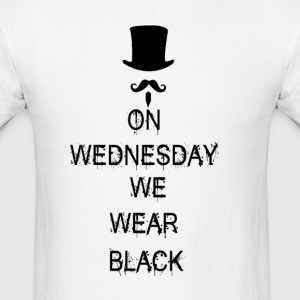 On Wednesday We Wear Black Long Sleeve Shirts - Men's T-Shirt