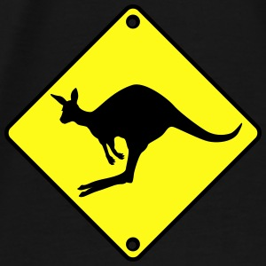 Kangaroo road sign Bags & backpacks - Men's Premium T-Shirt