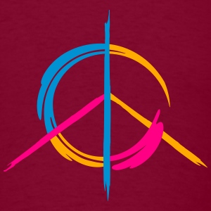A colorful peace symbol as a graffito Hoodies - Men's T-Shirt