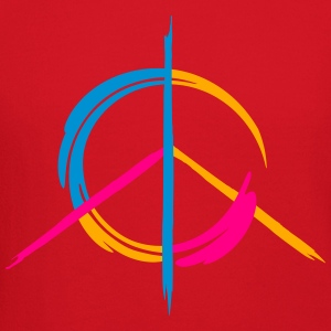 A colorful peace symbol as a graffito T-Shirts - Crewneck Sweatshirt