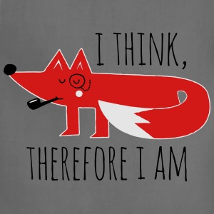 Fox Philosophy quote i think therefore i am geek T-Shirts - Adjustable Apron