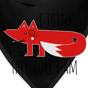 Fox Philosophy quote i think therefore i am geek T-Shirts - Bandana