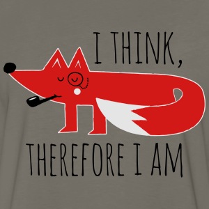 Fox Philosophy quote i think therefore i am geek T-Shirts - Men's Premium Long Sleeve T-Shirt