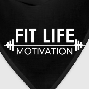 Fit Life Motivation Logo Tanks - Bandana