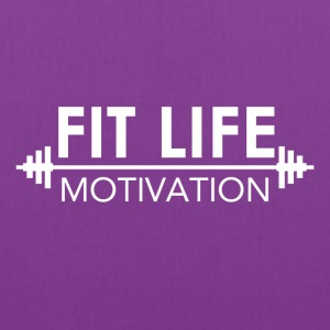 Fit Life Motivation Logo Tanks - Tote Bag