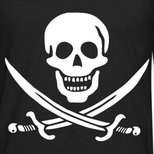 Jolly Roger Pirate Tee - Skull and Crossbones Pira - Men's Premium Long Sleeve T-Shirt