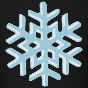 Realistic snowflake Hoodies - Men's T-Shirt