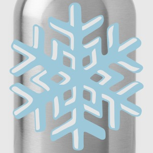Realistic snowflake Hoodies - Water Bottle