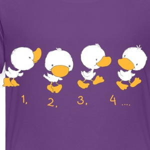 4 Ducklings with numbers Baby & Toddler Shirts - Toddler Premium T-Shirt