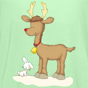 Rudolph with bunny - Women's Flowy Tank Top by Bella