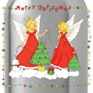 Christmas Angels Merry Christmas - Water Bottle