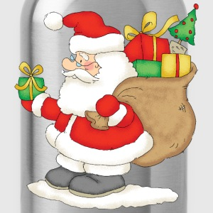 Santa Claus with bag of gifts - Water Bottle