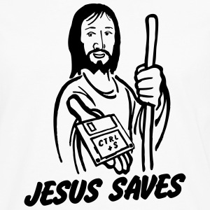 Jesus saves T-Shirts - Men's Premium Long Sleeve T-Shirt