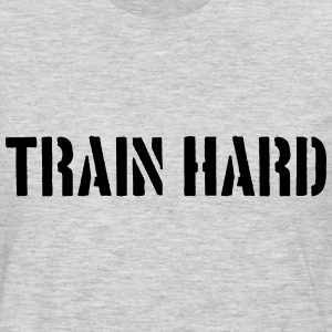 Train Hard Stamp Design T-Shirts - Men's Premium Long Sleeve T-Shirt