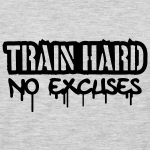 Train Hard No Excuses Logo Women's T-Shirts - Men's Premium Long Sleeve T-Shirt