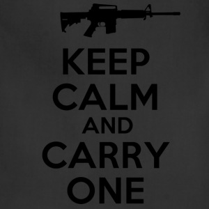 keep calm and carry one gun - Adjustable Apron