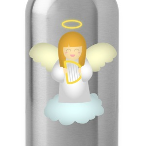 cute guardian angel with harp Bags & backpacks - Water Bottle