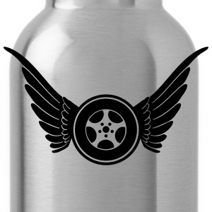 tire with wings T-Shirts - Water Bottle