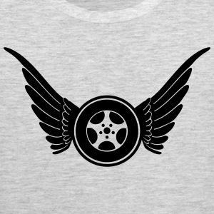 tire with wings T-Shirts - Men's Premium Tank