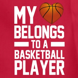 my_heart_belongs_to_a_basketball_player Women's T-Shirts - Adjustable Apron