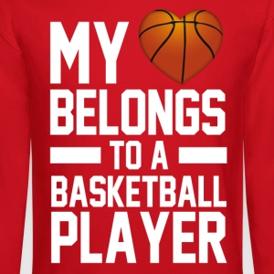 my_heart_belongs_to_a_basketball_player Women's T-Shirts - Crewneck Sweatshirt