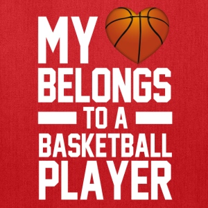 my_heart_belongs_to_a_basketball_player Women's T-Shirts - Tote Bag