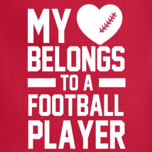 my_heart_belongs_to_a_football_player Women's T-Shirts - Adjustable Apron