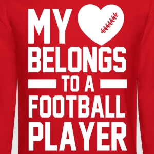 my_heart_belongs_to_a_football_player Women's T-Shirts - Crewneck Sweatshirt