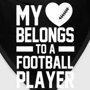 my_heart_belongs_to_a_football_player Women's T-Shirts - Bandana
