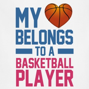 my_love_belongs_to_a_basketball_player Women's T-Shirts - Adjustable Apron