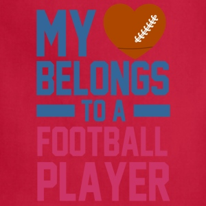 my_love_belongs_to_a_football_player Women's T-Shirts - Adjustable Apron