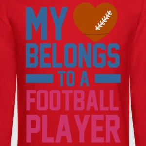 my_love_belongs_to_a_football_player Women's T-Shirts - Crewneck Sweatshirt