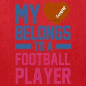 my_love_belongs_to_a_football_player Women's T-Shirts - Tote Bag