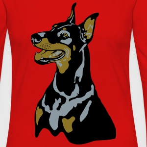 Dobermann Pinscher Sit T-Shirts - Women's Premium Long Sleeve T-Shirt