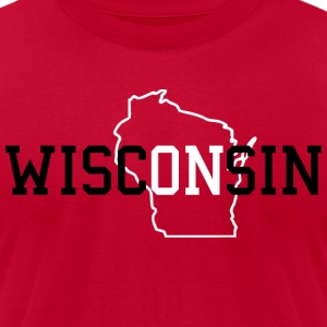 WiscONsin Sweatshirts - Men's T-Shirt by American Apparel