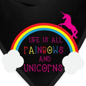 Rainbows & Unicorns Women's T-Shirts - Bandana