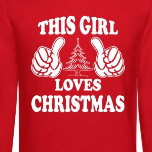 THIS GIRL LOVES CHRISTMAS Women's T-Shirts - Crewneck Sweatshirt