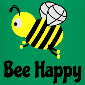 bee happy cute bee Kids' Shirts - Toddler Premium T-Shirt